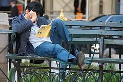 Guy reading-Ed Yourdon